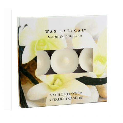 Vanilla Flower TEALIGHTS Made In England Scented Candles Wax Lyrical (Pack of 9)